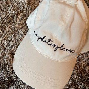White base ball cap